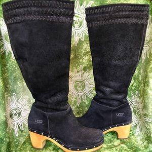 UGG Australia Rosabella Clog Boots- Suede- Black